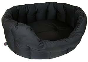 P & L Superior Pet Beds Heavy Duty Oval Waterproof Softee Bed, Jumbo, 97 x 74 x 25 cm, Black