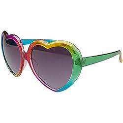 Peggy Gu colores en Forma de corazón para niños polarizadas de Grandes Chicas Gafas de Sol Estilo Lolita de protección UV Ambiental para Adolescentes Mayores de 14 años