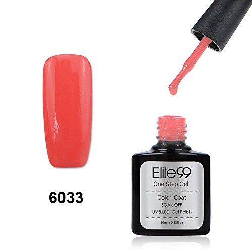 Elite99 Smalto Semipermanente UV LED Colore Gel Serie 3 in 1 One Step 10ml 6033 Coral