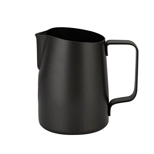 L-Beans Edelstahl Antihaft-beschichtung Kaffee Krug Milk Pitcher Milch Milchdüse Tassen, 450 ml(Schwarz) thumbnail