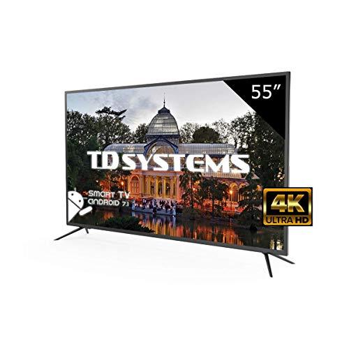 TD Systems K55DLM8US - 55' Smart TV UHD 4K (Resolución Ultra HD 4K, 3x HDMI,...
