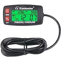 Tacómetro inductivo Alerta RPM Medidor de horas del motor Recordatorio de mantenimiento de botes Contadores de horas de tacómetro digital reiniciables retroiluminados para motocicleta Marine