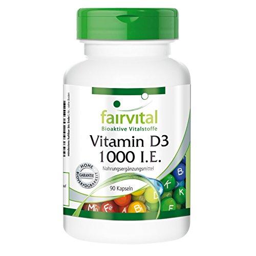 fairvital vitamin d3 Vitamin D3 1000 I.E. (25mcg) Cholecalciferol - 90 Kapseln