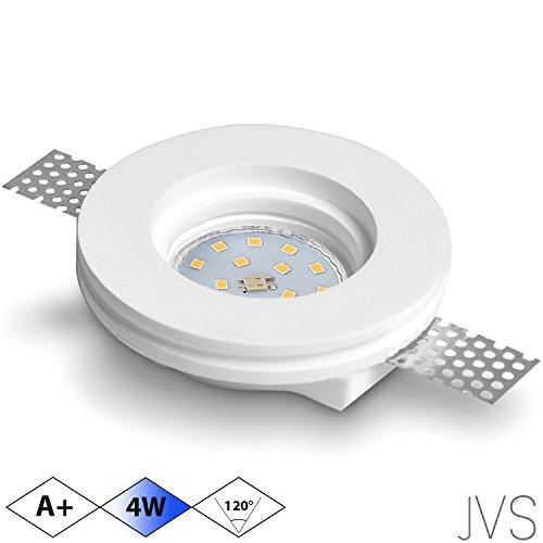 us Gips VEGA Rund Weiss Inkl. 1 X 4W LED Kaltweiss 230V IP20 Deckenstrahler Einbauleuchte Deckeneinbaustrahler Einbauspot Deckeneinbauleuchte Deckenspot (Las Vegas-led)