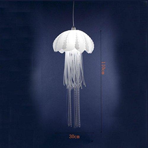Halle Stand (DZW Dekoration Jellyfish Lampen Postmodern Einfache LED Café Restaurant Hochzeitszeremonie Quallen Pendelleuchte Leistung 5W Größe 30 * 110cm , d 300*1100 send white -Beleuchtung Deckenleuchte Kreativ)
