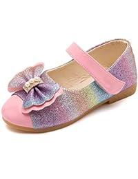 Zapato de Princesa Niña Infantil de Disfraz de Multicolor Raya Sandalias de Vestido para Cumpleaños Fiesta Cosplay para Niñas Bebe 15Meses - 11Años Fannyfuny