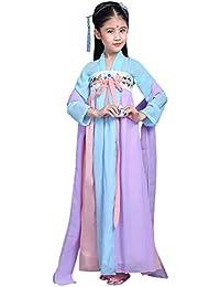 Daytwork Chicas Escenario Cosplay Chino Hanfu - Lindo Antiguo Real Bata para Niños Día Princesa Halloween