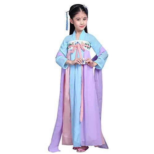 Daytwork Mädchen Bühne Cosplay Chinesisch Hanfu - Niedlich Antike Königlich Robe Kinder Tag Prinzessin Halloween Kleid Bis Party Retro ()