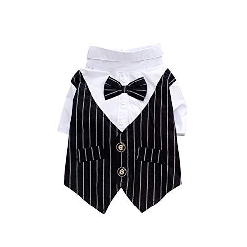 ng Anzug Welpen Hochzeit Kleidung Kostüm Cosply Bekleidung für Kleine Hund (schwarz) ()