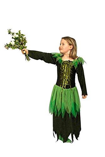 Feen Kostüm grün für Mädchen | Größe 98/104 | 1-teiliges Märchen Kostüm | Waldfee Faschingskostüm | Elfenkostüm für (Feen Kostüme Feen)