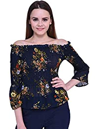 30f469f627 Dare Above All Casual Half Sleeve Flower Printed Women s Top