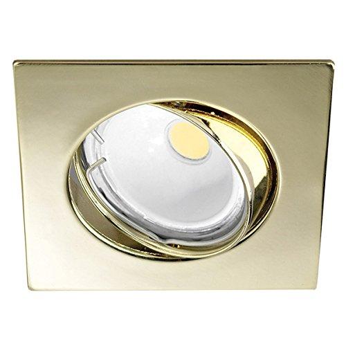 Wonderlamp W-E000013 Basic Basic - Foco empotrable cuadrado, color oro [Clase de...
