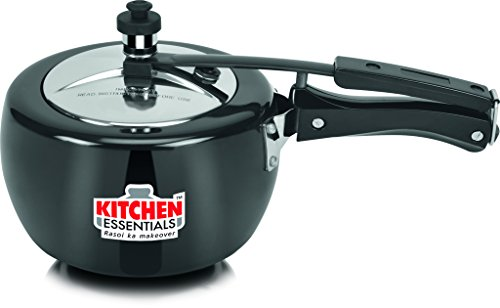 Kitchen Essentials Naarangi Hard Anodised Pressure Cooker-3 liter (Inner lid),Black , 5 Years Gurantee  available at amazon for Rs.1551