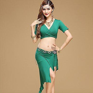 Heart&M Belly Dance Outfits Women's Performance Modal 2 Pcs Black