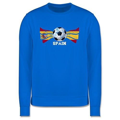 EM 2016 - Frankreich - Spain Fußball Vintage - Herren Premium Pullover Himmelblau