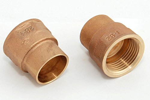 Übergangsmuffen i/i 28mm - 1' / 4270g, Rotguss (VE 2 Stk) Rotgussfitting red brass gunmetal, Klimaanlage Klimatechnik Wasser Heizung Gas Solar heating refrigerant -