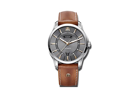 Maurice Lacroix PONTOS DAY DATE PT6358-SS001-331-2 Automatic Mens Watch Classic & Simple