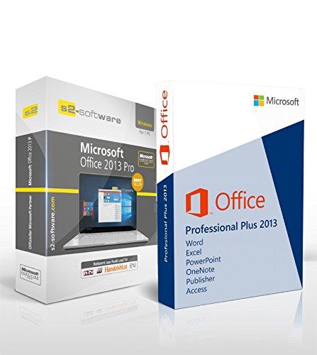 Microsoft® Office Professional (PRO) 2013. S2-ISO CD Reboxed. 32 bit & 64 bit. Deutsch. Original Lizenz. (Office 2013 Key)
