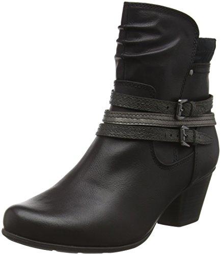 Jana 25332, Bottes Motardes Femme Noir (Black 001)