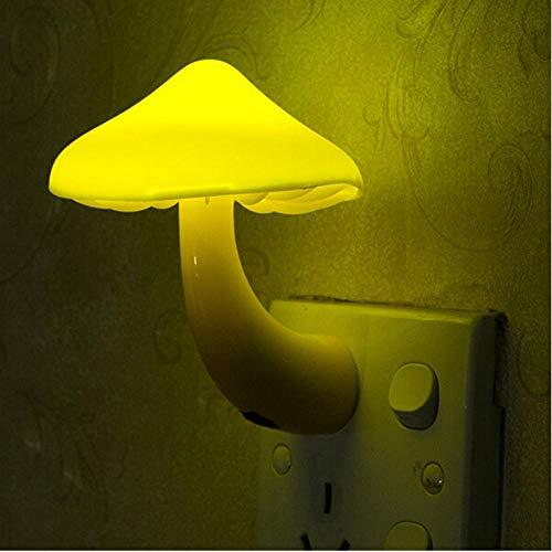 Stecker Pilz Steckdose Lichtsteuerung Induktion Led Nachtlicht Lampe Schlafzimmer Baby Auto Lichtsteuerung Geschenk Tischlampe, dekorative Lampe, Nachttischlampe 82 Night Vision