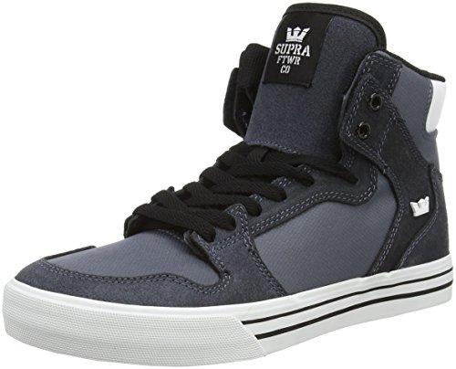 Supra VAIDER, Sneaker alta Unisex - adulto, Grigio (Grau (CHARCOAL / WHITE - WHITE   CHR)), 41