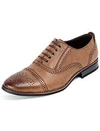 Para Hombre Elegante Formal Casual Con Cordones Piel Sintética Zapatos Oxford