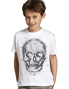 Kinder Halloween T-Shirt mit Mot