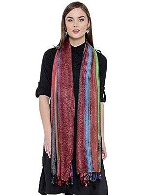 Weavers Villa Pure Viscose Bold Stripes Stole