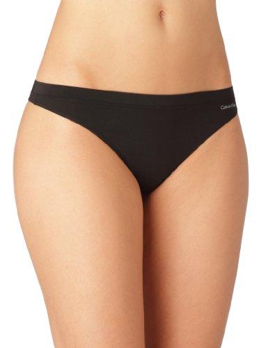 Calvin Klein underwear CALVIN KLEIN BLACK - thong - Ropa interior para mujer, Negro 001, X-Large