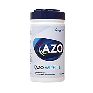 AZO VC81104 Wipette Hard Surface Disinfectant Wipe, 130 mm W x 185 mm L, White