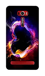 KnapCase Burning Heart Designer 3D Printed Case Cover For Asus Zenfone 2 Laser ZE601