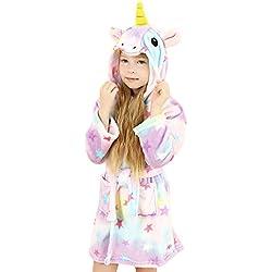 wgde toy Jouets pour Filles de 8-9 Ans, Douce Licorne Peignoir à Capuchon Vêtements de Nuit pour Enfants Licorne Jouets pour Filles de 8-9 Ans Cadeaux de Licorne pour Filles de 8-9 Ans