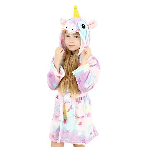 wgde toy Regalos de Unicornio Juguetes para niñas, Albornoz Suave con Capucha Unicornio Ropa de Dormir para niños Juguetes para niñas de 8-9 años Regalos de Unicornio para niñas de 8-9 años