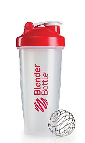 BlenderBottle Classic - Bottiglia/shaker/tazza, Multicolore (Rosso/Trasparente), 794 g ca.