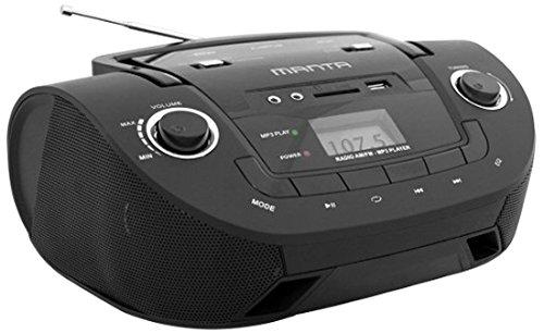 Manta MM208 Boombox (MP3, AUX, USB, SD, FM) schwarz