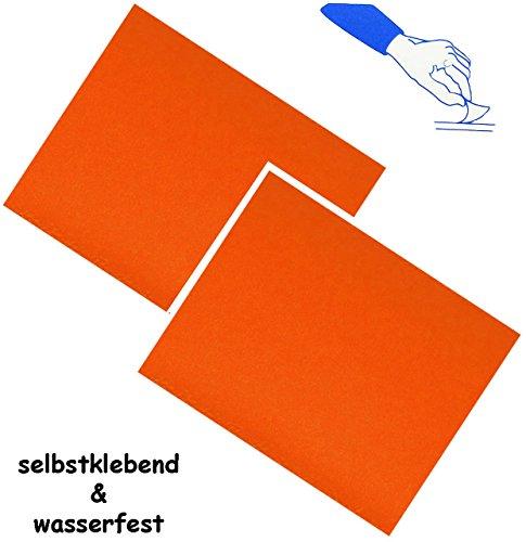 alles-meine.de GmbH 2 Stück _ Selbstklebende Reparatur Aufkleber - Nylon -  Neon Orange  - wasse..