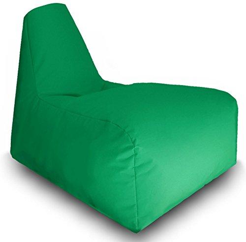 Sitzsack Sitzbag Gamer Sport Racing Gaiming Lounge Sessel In & Outdoor Sitzsäcke Stuhl Kissen Sofa Hocker Sitzkissen Bodenkissen mit Styropor Füllung-in verschiedene Farben-Bag Sitzsäcke Möbel (Grün)