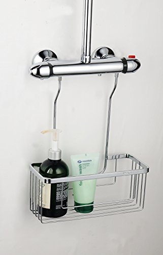 Tailored-Plumb Duschhaken, verchromt, rostbeständig, Edelstahl, Chrome, Shower Valve Caddy - Chrome Bath Caddy