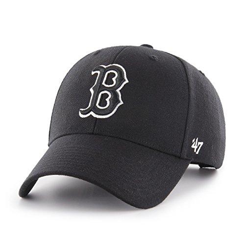 47Brand MVPSP02 Adjustable Cap Boston RED SOX Schwarz, Size:ONE Size Sox Im Team Design