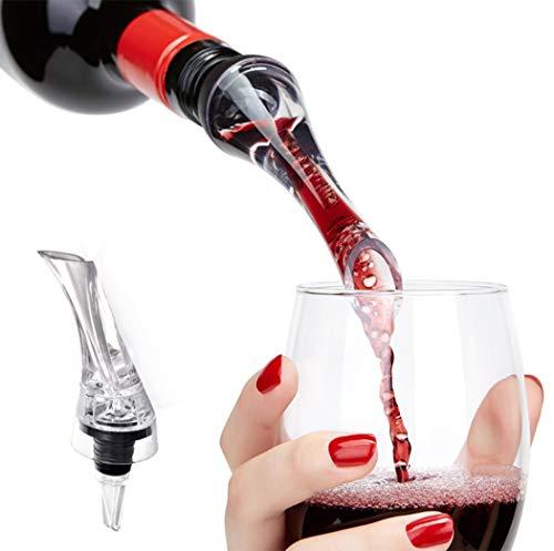 Hillento aérateur de vin verseur, verseuse de vins de qualité, Carafe Anti-Goutte Bec pour Bouteille de vin Rouge - vin Acrylique Pou