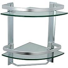 KES Mensola In Vetro Con Barra Di Tovagliolo In Alluminio