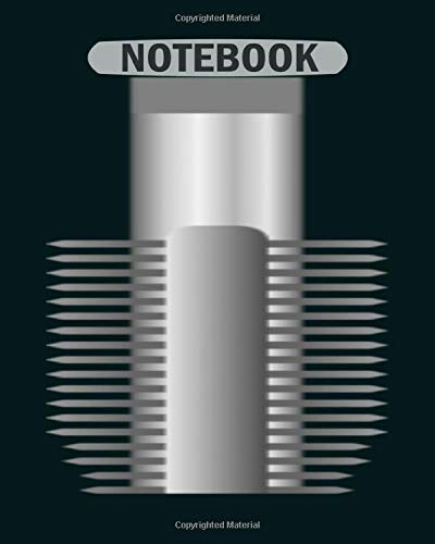 Notebook: screw threading tap - 50 sheets, 100 pages - 8 x 10 inches