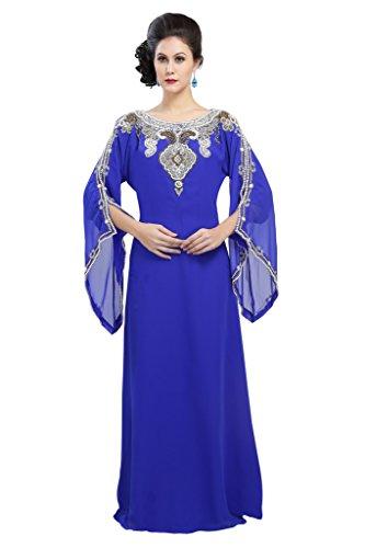 Maxim creación de Las Mujeres caftán Abaya Jilbab Maxi Vestido Rosa Rosa XX-Large
