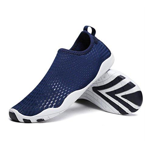 Paio di scarpe aqua acqua a piedi nudi spiaggia nuoto asciugatura rapida slip on scarpe da ginnastica calze di pelle per uomo donna unisex blue