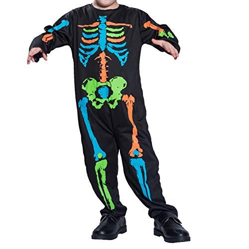 Halloween kostüm S.CHARMA Kostüme für Erwachsene Cosplay Unheimlich Kleidung Halloween-Set Performance-Kostüm Schwarze Skelett Kind