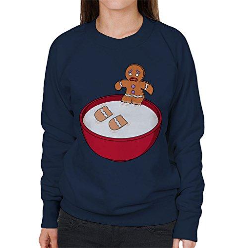 Shrek Gingerbread Man Milk Problems Women's Sweatshirt Shrek Gingerbread
