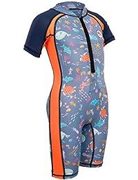 2018 Gul Junior Front Zip Sun Suit Sealife RG0349-B4