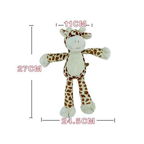 CDELEC jouet en peluche de sécurité Bell éléphant Jouets pour bébés Animal Rattles girafe cadeau de jouet de canard (marron)