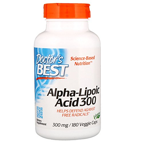 Doctor's Best, Best Alpha-Lipoic Acid (Alpha-Liponsäure), 300 mg, 180 Kapseln | Vegan | hochdosiert | ohne Gentechnik | universelles Antioxidans