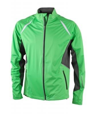 JN440 James + Nicholson uomo giacca, Sport giacca antivento alemira verde/carbone